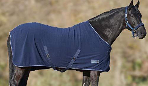 Amesbichler Fleecedecke Economic dunkelblau, Gr. 145 | Pferdedecke mit Kreugzgurten