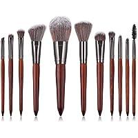 Xuxuou 11 Piezas de Cosmético Pincel Profesional con Mango Cepillo de Maquillaje Herramientas de Maquillaje
