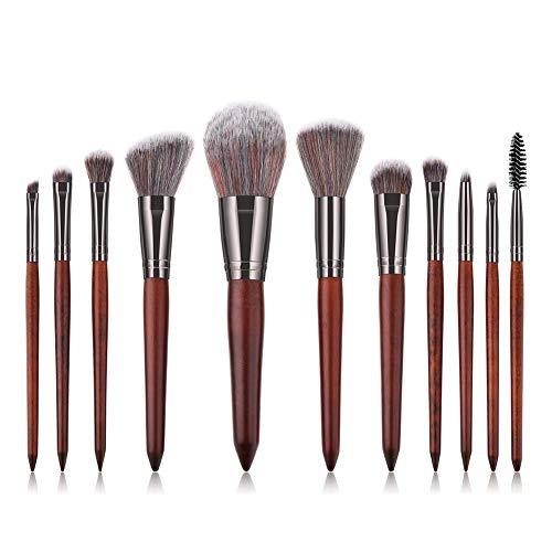 Cosanter 11 pinceaux de maquillage de haute qualité à manche brun Pinceaux Maquillage Cosmétique Brush Beauté Maquillage Brosse Makeup Brushes Tous Types de Maquillage