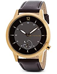 Runtastic Moment CLASSIC Uhr & Aktivitätstracker (mit Lederband) Gold