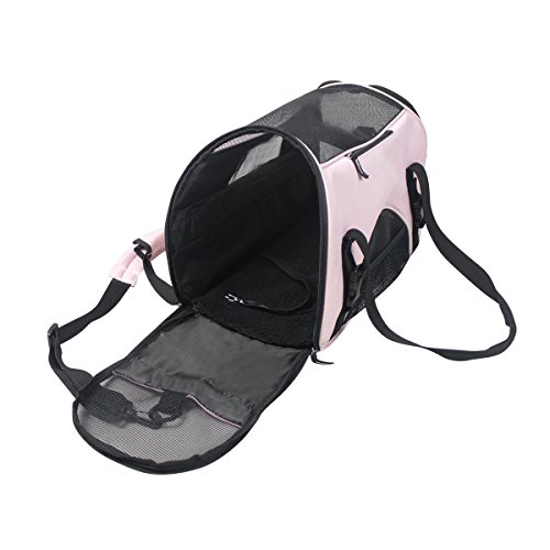 Dog Carrier Bag Pet Travel Portable Bag Dog Cat Travel Carrier Cage, Airline Approved Soft Sided Pet Carrier /Nine color choices Car Seat Travel Bag Wheels