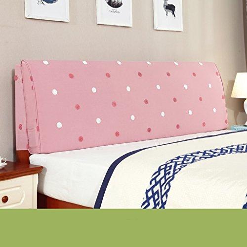 uus Moderne feste Farbe große Kissen Bedside Kissen Stoff Leinen Bett Kopf weiche Tasche Bedside große Rückenlehne Kissen waschbar großes Kissen 55 * 155cm ( Farbe : S )