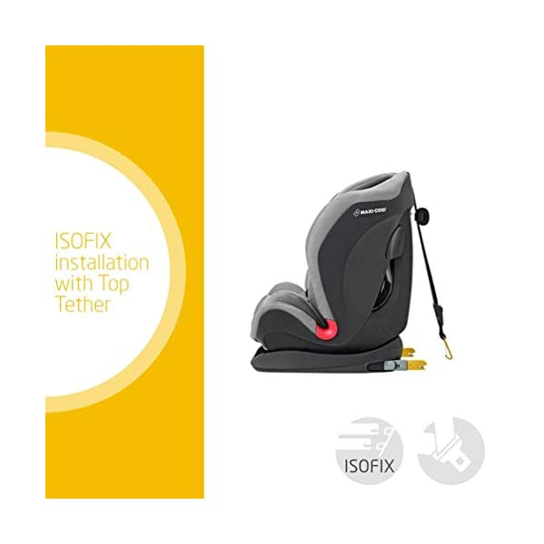 Maxi-Cosi Titan Toddler/Child Car Seat Group 1-2-3, Convertible, Reclining ISOFIX Car Seat, 9 m - 12 y, Nomad Grey Maxi-Cosi A multi-stage car seat suitable for babies, toddlers and children from 9 months to 12 years (approx. 9 - 36 kg) Easy adjustable and smooth headrest of this reclining car seat grows along in 11 steps to provide comfort for your little one Solid ISOFIX installation with top tether offers high stability for this convertible car seat 2