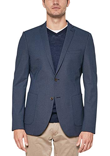 Preisvergleich Produktbild s.Oliver BLACK LABEL Herren Cosimo Flex Slim: Stretch-Sakko Navy Blue pin Stripes 50