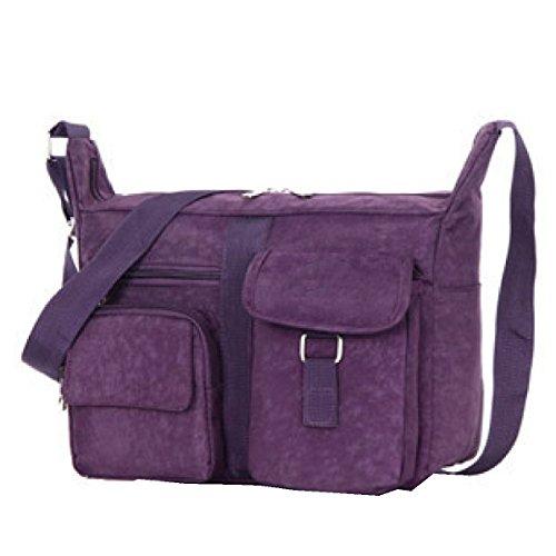 Borse Yy.f Di Marca Di Lusso Borse Casuali Pacchetto Diagonale Il Sacchetto Di Spalla Delle Signore Lavare Panno Multicolore Purple