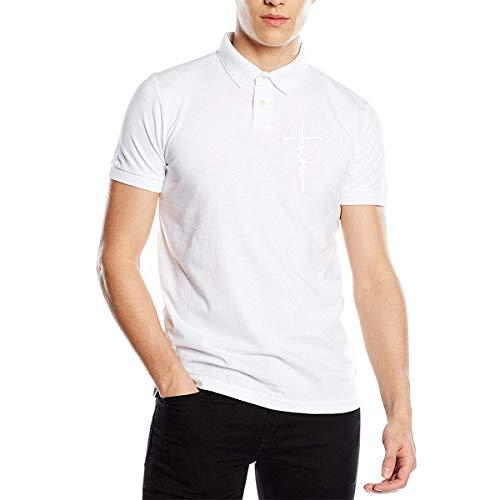 Star Trek-jugend-t-shirt (Männer Jugend Jungen Glauben T Shirts Casual Polo T Shirt für Männer Jungen T-Shirt Kurzarm Rundhals T-Shirt Weiß 2XL)