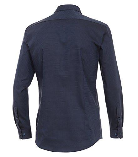 Venti - Body Fit - modisches Herren Langarm Hemd mit Kent Kragen (162500000 A) Blau (100)
