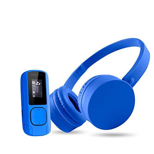Energy Sistem Music Pack Reproductor de MP3 Azul 8 GB - Reproductor MP3 (Reproductor de MP3, 8 GB, LCD, Radio FM, Azul, Auriculares incluidos)