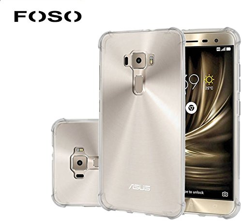 Foso Silicon Transparent Flexible with Protective Shock Proof Corner For Asus Zenfone 3 ( 5.2' inch ZE520KL )