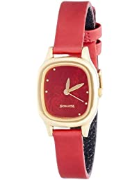Sonata Superfibre Analog Red Dial Women's Watch - NF8060YL03