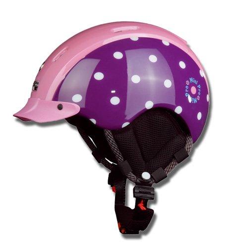 CASCO Skihelm Snowboardhelm Ski Helm MINI PRO DOTS pink, XS(44-50cm)
