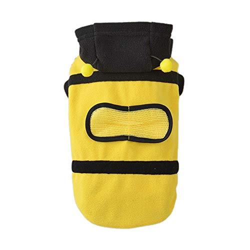 (Entzückende Hundekleidung Herbst/Winter Bumblebee Bee Doogie Kostüm Warmes Vierbein Jumpsuit Cosplay Outfit Hundemantel)