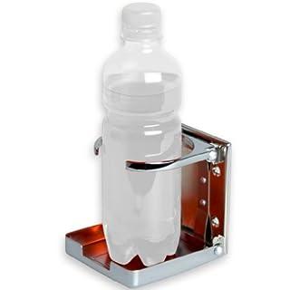 Tuniro Flaschenhalter aus verchromtem Stahl, Kicker Tischfussball Getränkehalter Dosenhalter