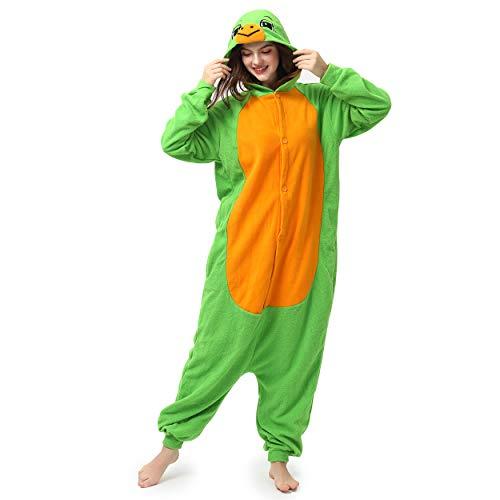 Katara- Pijamas Enteros Diferentes Animales y Tamaños, Adultos Unisex, Color Tortuga Verde, Talla 175-185cm (1744)