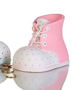 """Tirelire """"Chaussure bébé"""" Naissance, baptême"""