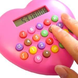 Calculatrice - Coeur Rose