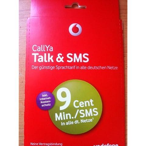 Vodafone CallYa Talk & SMS 9Cent en todas las redes Tel & SMS 1& # x20ac; prepago