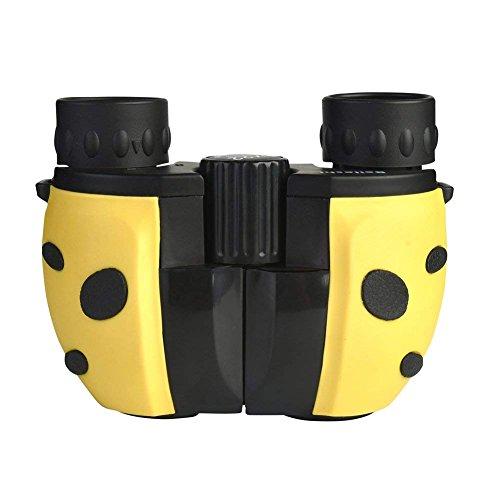 Nanle Outdoor Kinder-Fernglas, Mini-Fernglas Kompaktes Leichtes tragbares Gummiteleskop für Vogelbeobachtung, Sternbeobachtung, Wildtierwandern unterwegs (Farbe : Gelb)