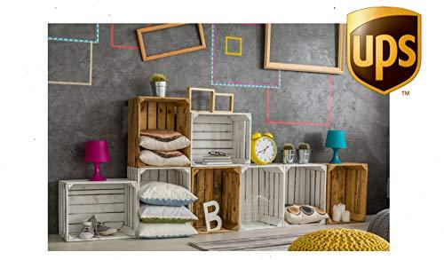 Eza Vision CPT-11 handgefertigte Aufbewahrungsboxen aus Holz, rustikal, Vintage-Optik, für Wohnzimmer, Möbel, Beistelltisch