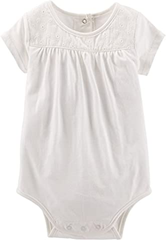 OSHKOSH B'gosh Body unter Latzhose Baby Spieler Sommer Bluse Shirt für Mädchen (0-24 Monate) (12 Monate, weiss)