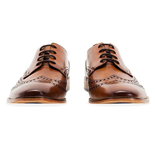 GOODWIN SMITH Herren Gisburn Leather Brogue Shoe Tan Tan