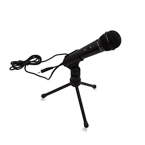 Computer-Mikrofon mit Stativ und 3,5-mm-Anschlusskabel | Reden und Recording-Mikrofon für PC und Laptop (Perfekt für Skype und andere Internet-Chatting und Conference Verwendet) von Express Panda® - Computer Laptop Verwendet