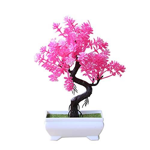 bismarckbeer Künstlicher Topfbaum, Bonsai, Kunstpflanze, Schreibtisch Ornament, für Zuhause, Büro, Garten, Dekoration, Geschenk