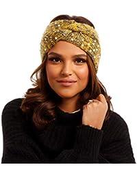 f91266f86bace4 YC Fashion & Style Damen Stirnband Haarband mit Perlen und eingewebten  Metallic-Fasern Elastisch Herbst