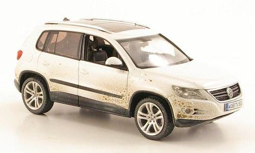 Preisvergleich Produktbild VW Tiguan, weiss mit Schmutzpartikeln, 2008, Modellauto, Fertigmodell, Schuco 1:43