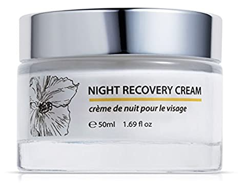 Green Keratin Night Moisture Recovery Cream || Coenzyme Q10, Hyaluronic Acid, Organic Shea Butter & Chamomile Oil || Luxurious Moisture Replenishing Night Cream For Dry And Mature Skin
