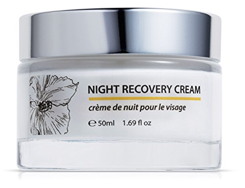 Green Keratin Nacht Gesichtscreme || Coenzym Q10, Hyaluronsäure, Bio-Sheabutter & Kamillenöl || Luxuriöse Nachtcreme für trockene und reife Haut || 50ml -