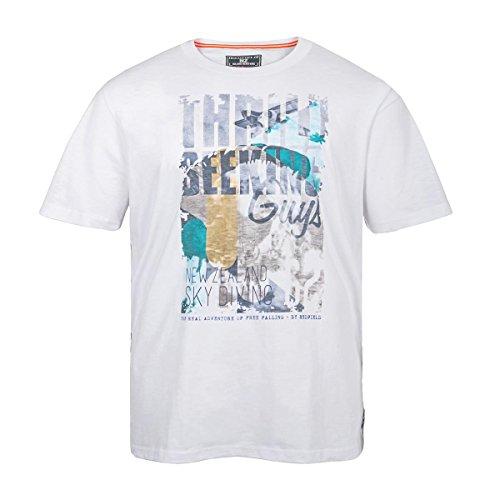 Redfield weißes T-Shirt mit Frontdruck Übergröße Weiß