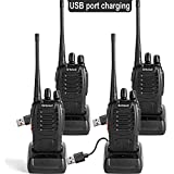 Greaval Rechargeable Walkie Talkies 4 Pack Long Distance Portable Two-way Radio USB Charging