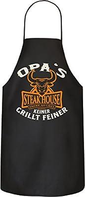 RAHMENLOS Original BBQ Grillschürze für den Großvater: Opa's Steakhouse. Nr.: 2995