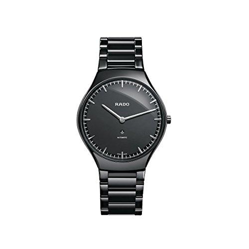 Rado True Thinline nero quadrante automatico unisex orologio R27969152