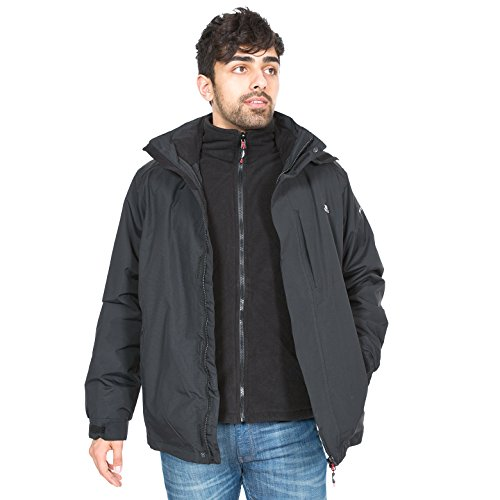Trespass Herren Maker II 3-in-1-Jacke schwarz