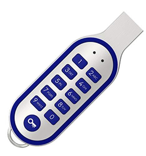 Sicherer USB 2.0 Stick 16 GB mit PIN Code Eingabe 100% Hardwareverschlüsselung (Alu/Blau)