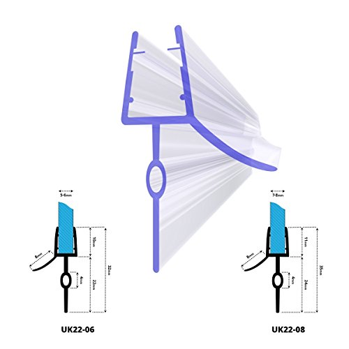 STEIGNER Ersatzdichtung Duschdichtung für 5mm/ 6mm Glasdicke, Gummilippe aus PVC, 70cm, UK22