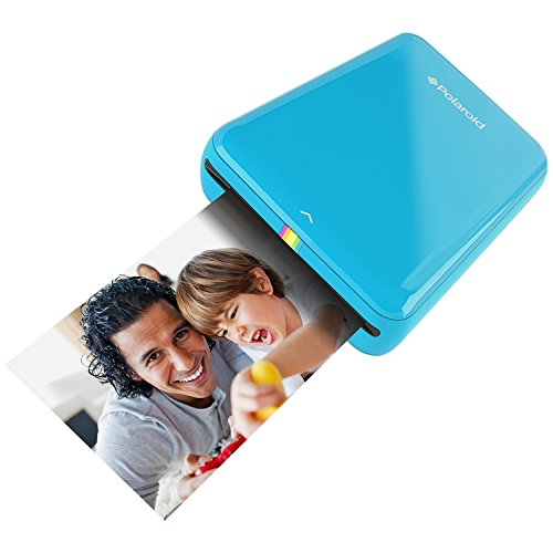 Polaroid  Zip - Impresora móvil  (Bluetooth, NFC, Micro USB, tecnología Zink Zero Ink, 5 x 7.6 cm, Compatible con iOS y Android), Color Azul