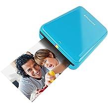 Polaroid ZIP Mobile Printer - Imprimante équipée de la technologie d'impression sans encre ZINK - Compatible avec les appareils iOS & Android - BLEU