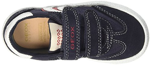 Geox JR Kilwi Boy Jungen Low-Top Blau (Navy/Redc0735)