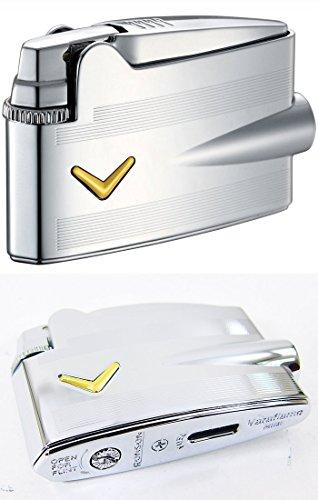 Ronson V Streifen Mini Varaflame Feuerzeug special Edition Design Neu und Geschenkbox
