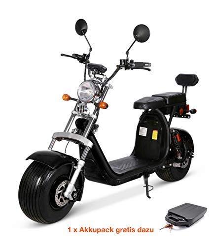 Citycoco Elektro Scooter 1500 Watt 60 Volt 20AH inkl. COC + Gratis Zusatz AKKU (1500w Elektro-roller)