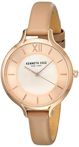 Kenneth Cole Classic Femme 34mm Bracelet Cuir Rose Quartz Montre KC15187004