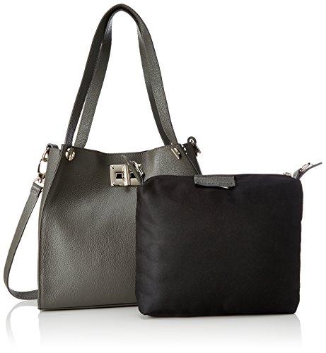Bags4Less Damen Gloria Schultertasche, 11 x 27 x 31 cm Grau (Dunkelgrau)