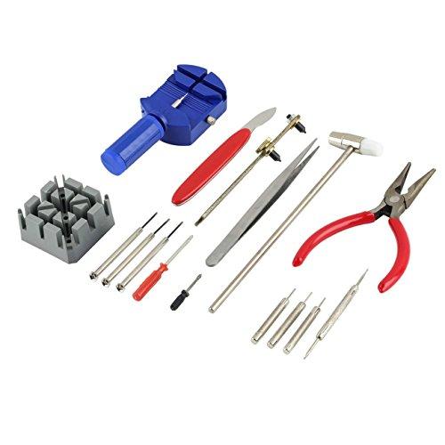 Elviray 1 Satz 16 stücke Uhr Repair Tool Kit Handschlaufe Einstellen Band Pin Strap Link Remover Fix Zurück Öffner Entferner -
