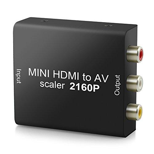 Neoteck 4K 2160P HDMI zu AV Konverter HDMI zu 3RCA Composite AV CVBS Video und Audio Konverter Adapter aus Metell mit USB Kable unterstützt PAL/NTSC für PC Laptop Wii Xbox PS3 PS4 TV STB VHS VCR Camera Blu-ray DVD (Ntsc-tv-crt)