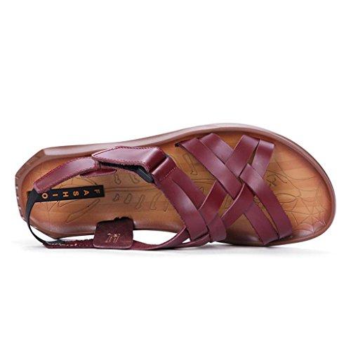 ZXCV Scarpe all'aperto Scarpe da spiaggia morbide scarpe sandali da uomo Scarpe casual traspiranti Marrone
