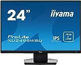iiyama ProLite XU2495WSU-B1 61,13cm (24,1 Zoll) IPS LED-Monitor 16:10 (VGA, HDMI, DisplayPort, USB2.0, Ultra-Slim-Line) schwarz