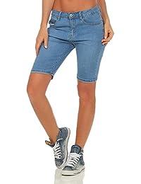 9b6c319b48e3 OSAB-Fashion 5288 Damen Jeans Bermuda Slim-Fit Shorts kurze Hose Basic Übergrößen  Panty
